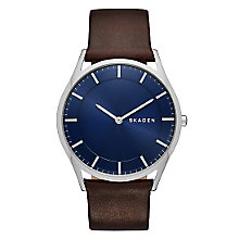 Skagen Holst Men's Stainless Steel Blue Strap Watch - Product number 3906973
