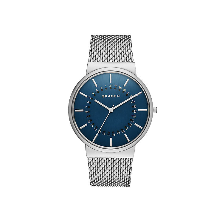 Skagen Ancher Men's Stainless Steel Blue Bracelet Watch - Product number 3907015