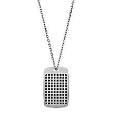 Emporio Armani Stainless Steel Grid Necklace - Product number 3907201