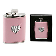 Pretty in Pink Heart Hip Flask - Product number 3907333