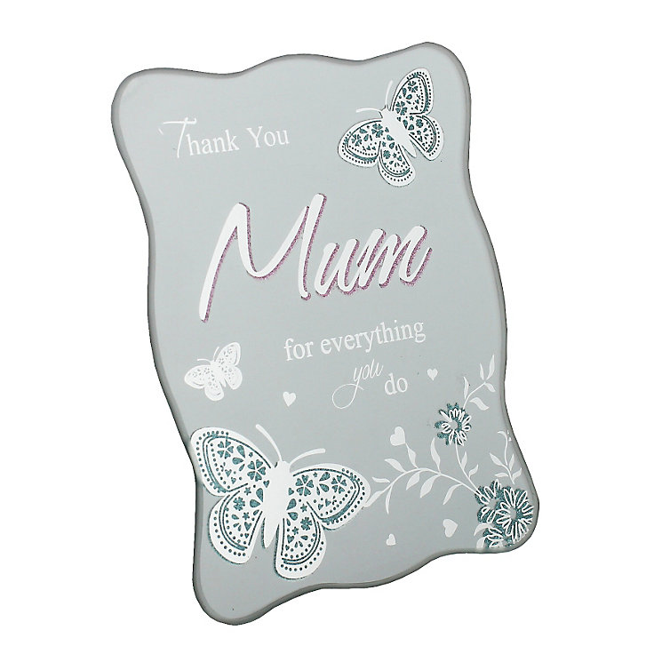 Thanks Mum Plaque - Product number 3907376