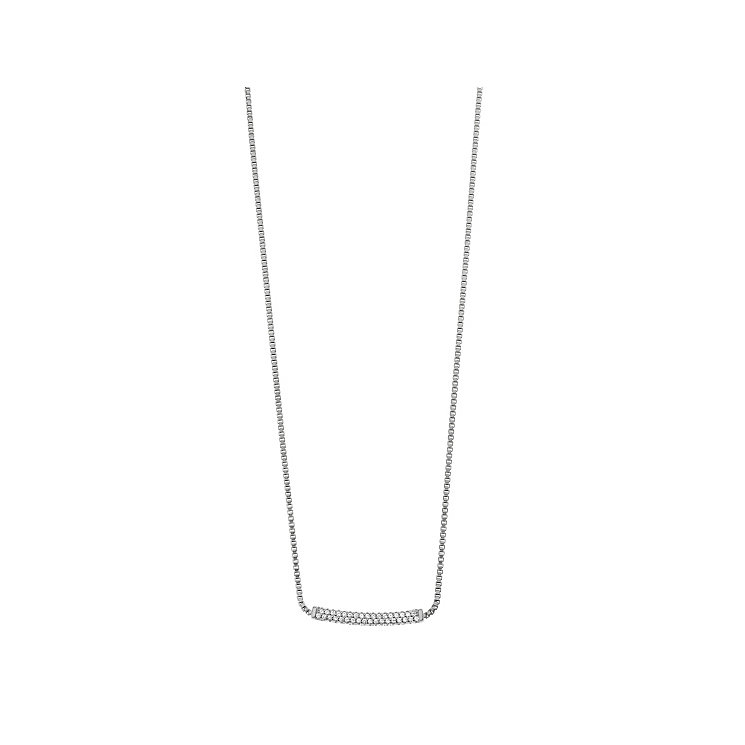 Emporio Armani Sterling Silver Stone Set Necklace - Product number 3907422
