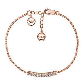 Emporio Armani Rose Gold Tone Stone Set Bracelet - Product number 3907686