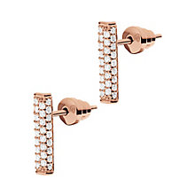 Emporio Armani Rose Gold Tone Stone Set Drop Earrings - Product number 3907937