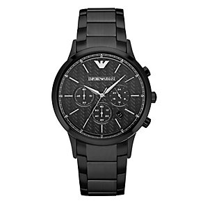 Emporio Armani Men's Ion Plated Chronograph Bracelet Watch - Product number 3908003