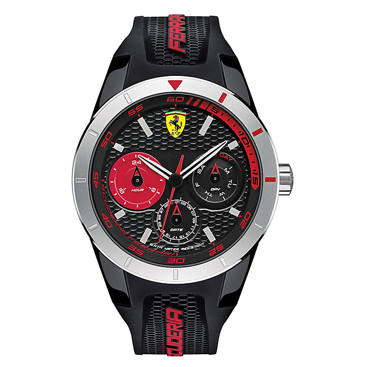 Scuderia Ferrari Men's Red Chronograph Rubber Strap Watch - Product number 3908941