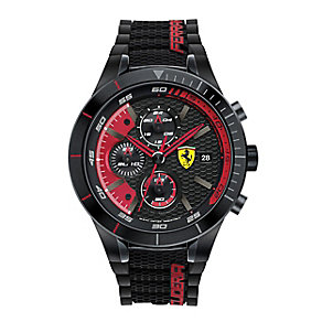 Scuderia Ferrari Men's Red Chronograph Rubber Strap Watch - Product number 3908968