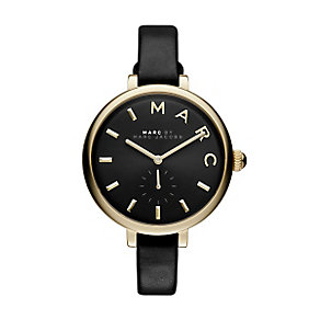 Marc Jacobs Sally Ladies' Gold Tone Black Strap Watch - Product number 3910083