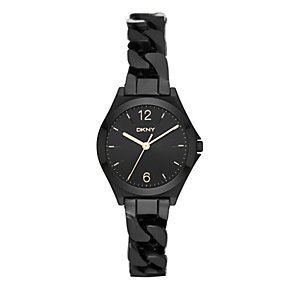 DKNY Parsons Ladies' Ion Plated Black Bracelet Watch - Product number 3910334