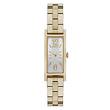 Dkny Pelham Ladies' Gold Tone Rectangle Bracelet Watch - Product number 3910350