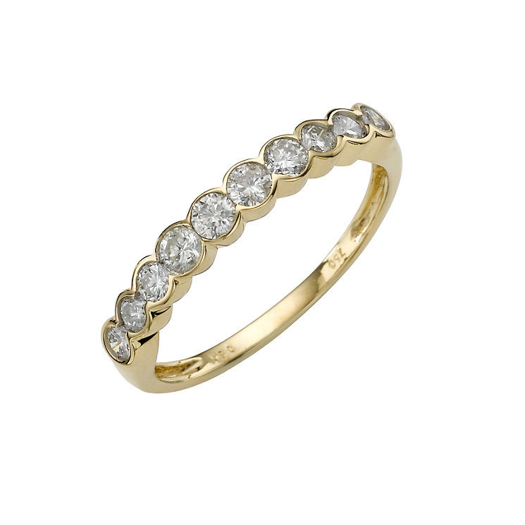 18ct gold half carat diamond ring - Product number 3923282
