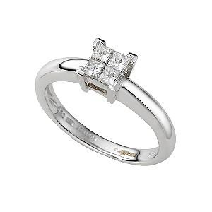 ... gold fifth carat princess cut diamond ring - Product number 3924157