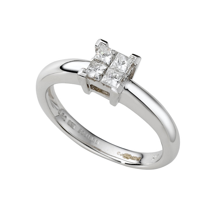 18ct white gold fifth carat princess cut diamond ring - Product number 3924157