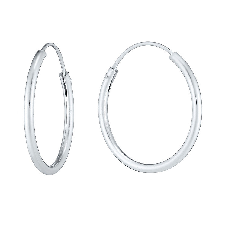 Sterling Silver 20mm Hoop Earrings - Product number 3926133