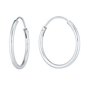 Sterling Silver 20mm Hoop Earrings - Product number 3926133