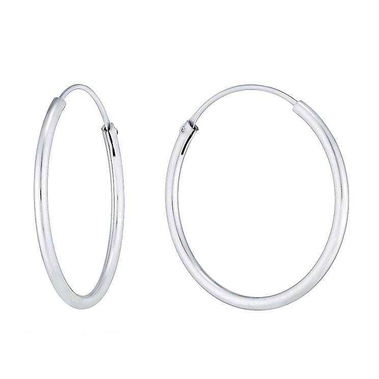 Sterling Silver 25mm Hoop Earrings - Product number 3926168