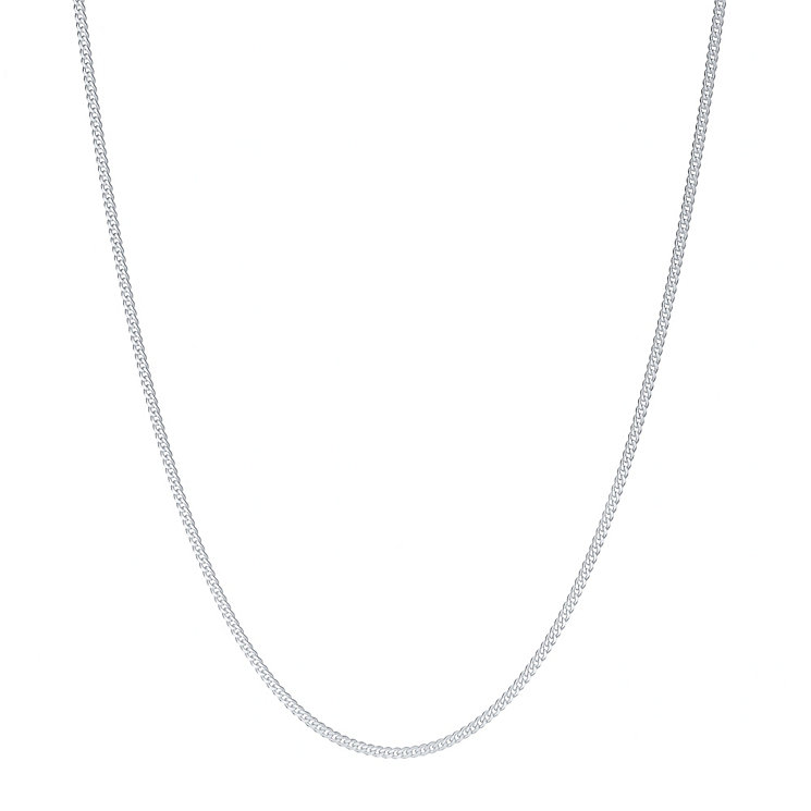 "Sterling Silver 20"" 25 Gauge Curb Necklace - Product number 3926346"