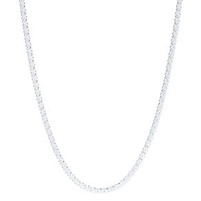 Sterling Silver Popcorn Chain Necklace - Product number 3926362