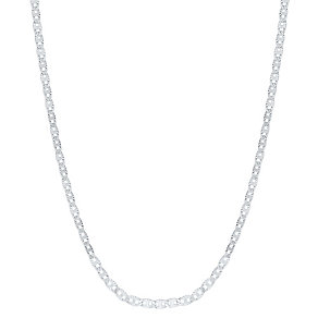 Sterling Silver Anchor Chain Necklace - Product number 3926397