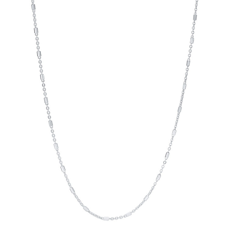 Sterling Silver Fancy Beaded Chain Necklace - Product number 3926400