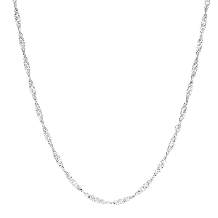 "Sterling Silver Twist 18"" Herringbone Chain Necklace - Product number 3926435"
