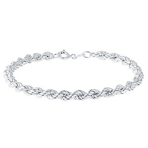 Sterling Silver Large Rope Bracelet - Product number 3926451