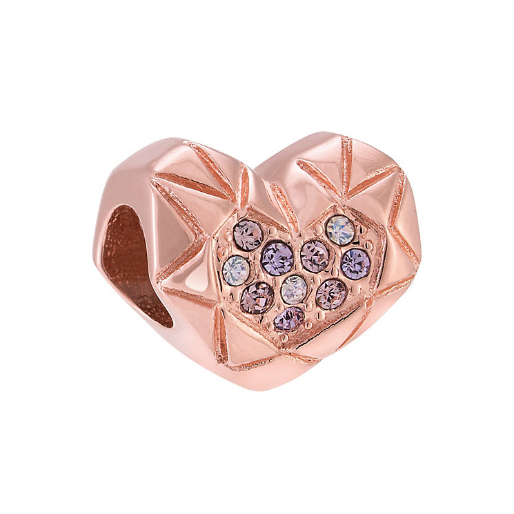 Chamilia Rose Gold Plated Faceted Heart Bead - Product number 3931498