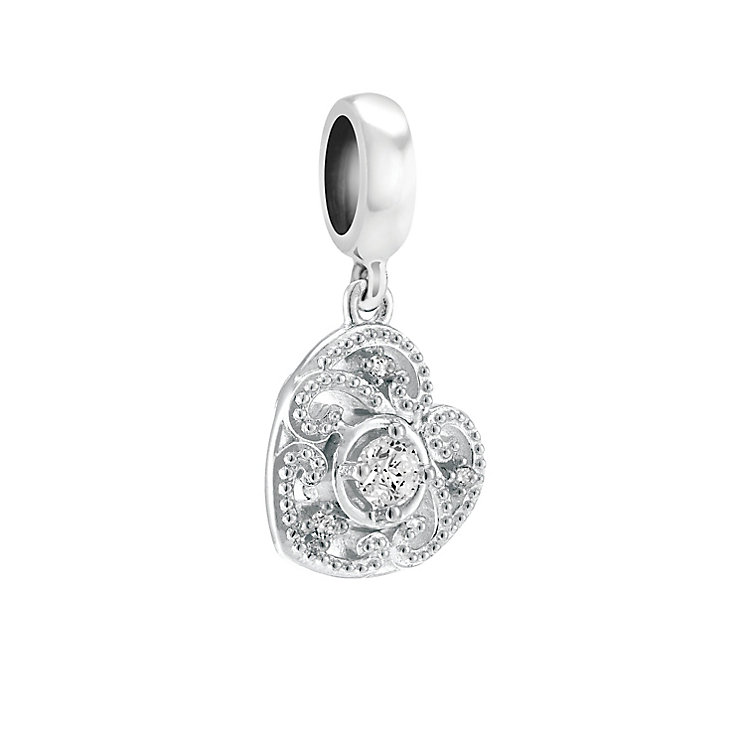 Chamilia Swirling Hanging Heart Bead - Product number 3932052