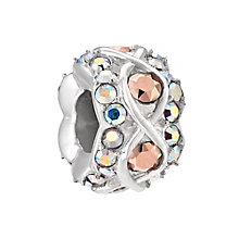 Chamilia Rose Gold and Aurora Borealis Luxe Bead - Product number 3932168