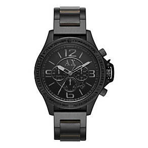 Armani Exchange Men's Black Ion-Plated Bracelet Watch - Product number 3936376