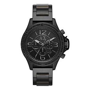 Armani Exchange Men's Black Ion-Plated Bracelet Watch - Product number 3936376