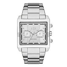 Armani Exchange Men's Silver Stainless Steel Bracelet Watch - Product number 3936392