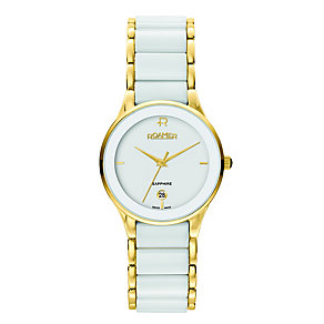 Roamer Ceraline ladies' White Ceramic & Gold-Plated Watch - Product number 3936848