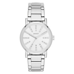 DKNY Ladies' Silver Dial Stainless Steel Bracelet Watch - Product number 3942643