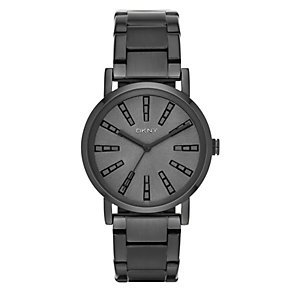 DKNY Ladies' Black Ion-Plated Stainless Steel Bracelet Watch - Product number 3942651