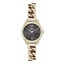 DKNY Ladies' Gold-Plated Stainless Steel Bracelet Watch - Product number 3942686
