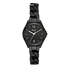 DKNY Ladies' Black Ion-Plated Stainless Steel Bracelet Watch - Product number 3942694