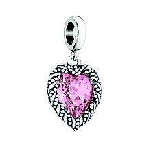 Chamilia Crystal Heart Rosaline Swarovski Crystal Charm - Product number 3948714