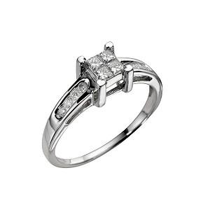 ... gold third carat princess cut diamond ring - Product number 3949192