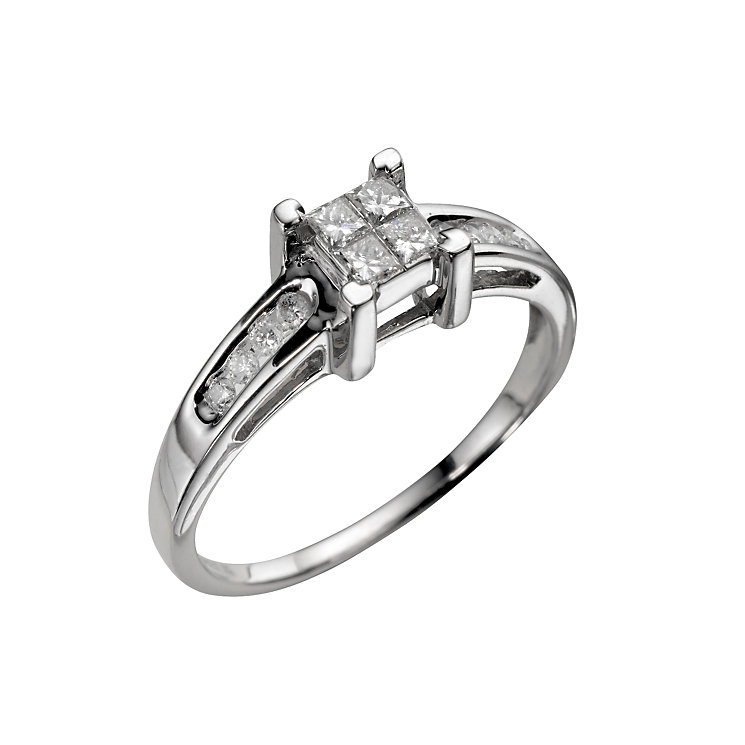 18ct white gold third carat princess cut diamond ring - Product number 3949192