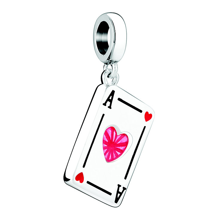 Chamilia Ace Of Hearts Sterling Silver & Enamel Charm - Product number 3963098