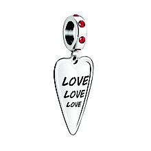 Chamilia Love 3X Siam & Swarovski Crystal Charm - Product number 3963144