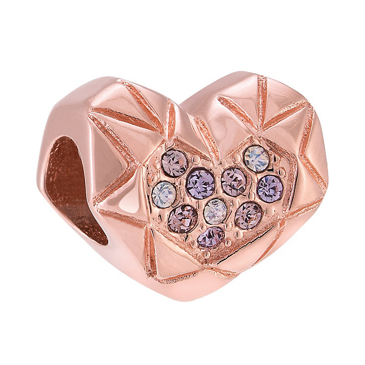 Chamilia Faceted Heart Rose Gold Electroplated Bead - Product number 3963179