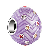 Chamilia Chevron Egg Swarovski &  Purple Enamel Bead - Product number 3967247