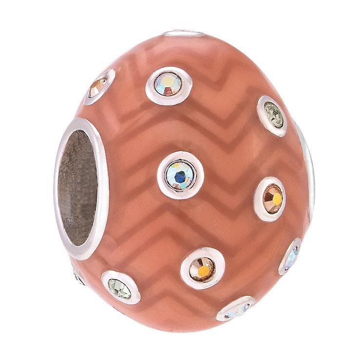 Chamilia Chevron Egg Swarovski Bead - Product number 3967255