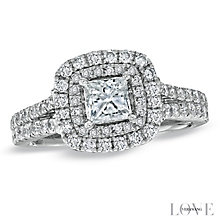 Vera Wang  platinum 1.45ct H1/SI2I1 diamond split ring - Product number 3968480