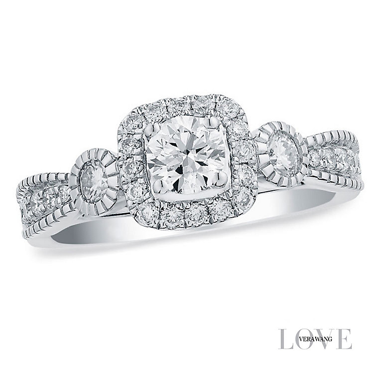 Vera Wang  platinum 0.70CT diamond engagement ring - Product number 3973832