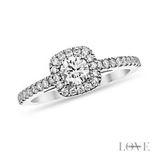 Vera Wang  platinum 72pt round cut diamond halo ring - Product number 3975355