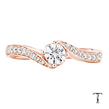 Tolkowsky 18ct Rose Gold 0.50ct I-I1 Diamond Twist Ring - Product number 3975932
