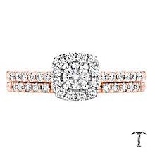 Tolkowsky 18ct  Rose Gold 0.50ct I-I1 Diamond Bridal Set - Product number 3978192